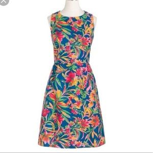 J. Crew Factory Blue/Pink Floral Dress